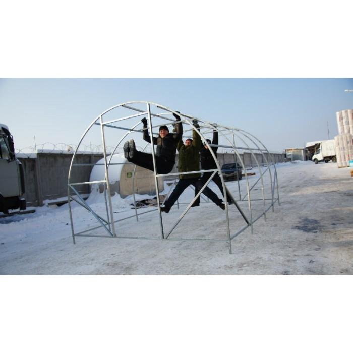 Теплица Киновская PREMIUM 3х10м с сотовым поликарбонатом 4мм - ОЦИНКОВАННАЯ ЗАМКНУТАЯ ТРУБА - 1