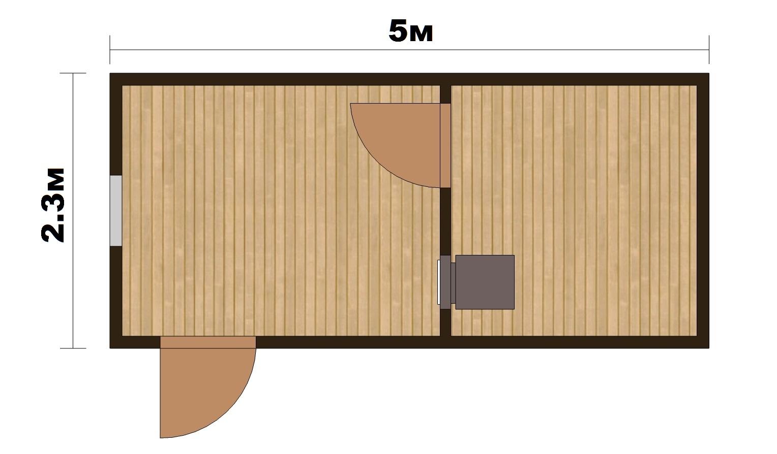 """Готовая Баня """"Парок"""" 5х2.4м - 1"""